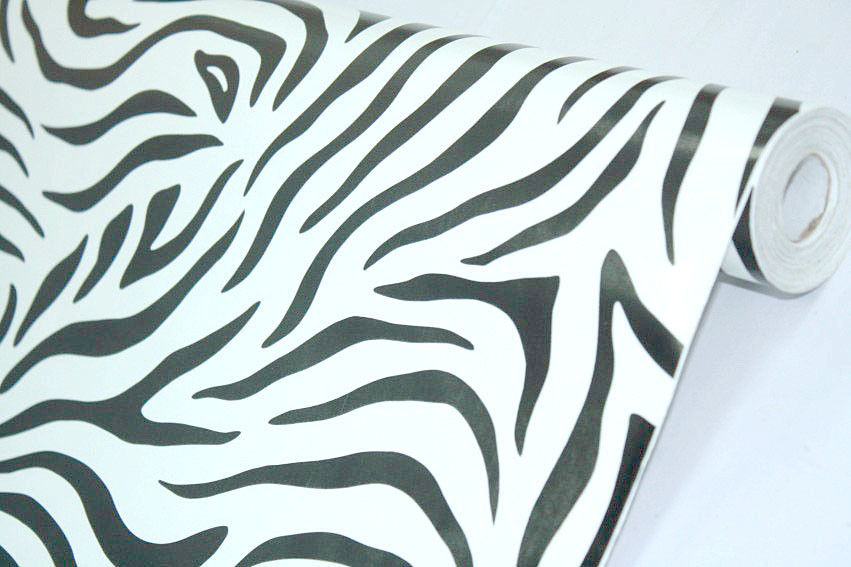 PVC White Black Zebra Figure Prepasted Self Adhesive Wallpaper eBay 851x567