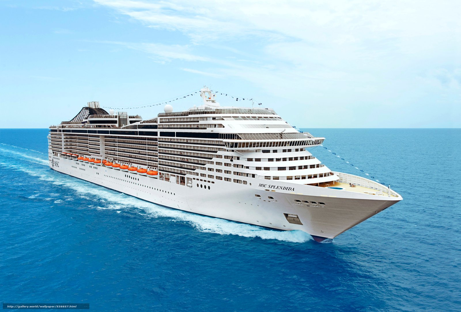 Download wallpaper MSC Splendida Cruise Ship desktop wallpaper 1600x1085