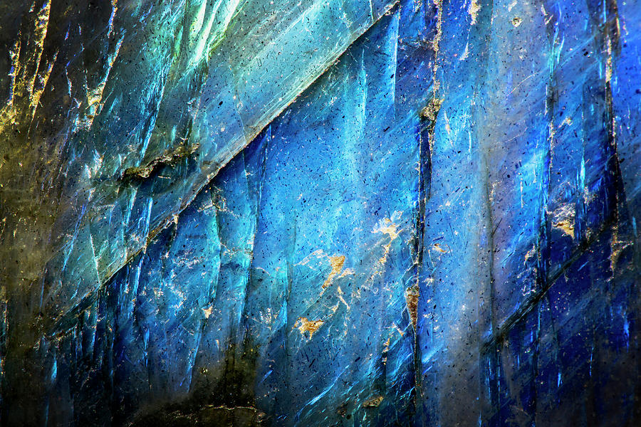 Macro Photo Of A Colorful Blue Labradorite Stone Photograph by 900x600
