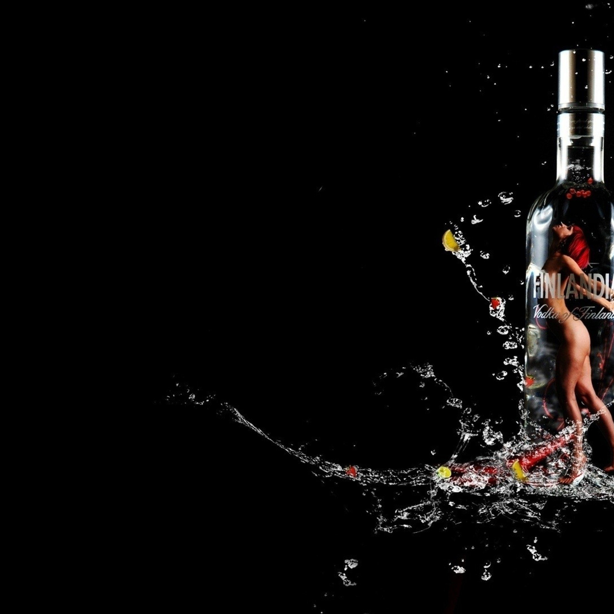 Vodka Drink Black Background 2048x2048 wallpaper 2048x2048 283037 2048x2048