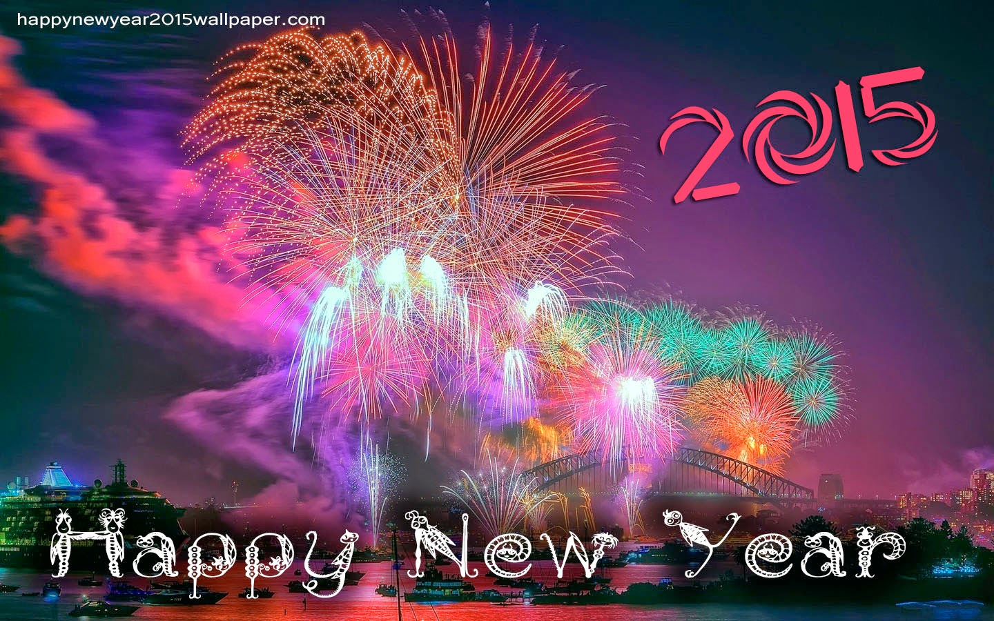 Wallpaper Happy New Year 2015 Wallpapers Chainimage 1440x900