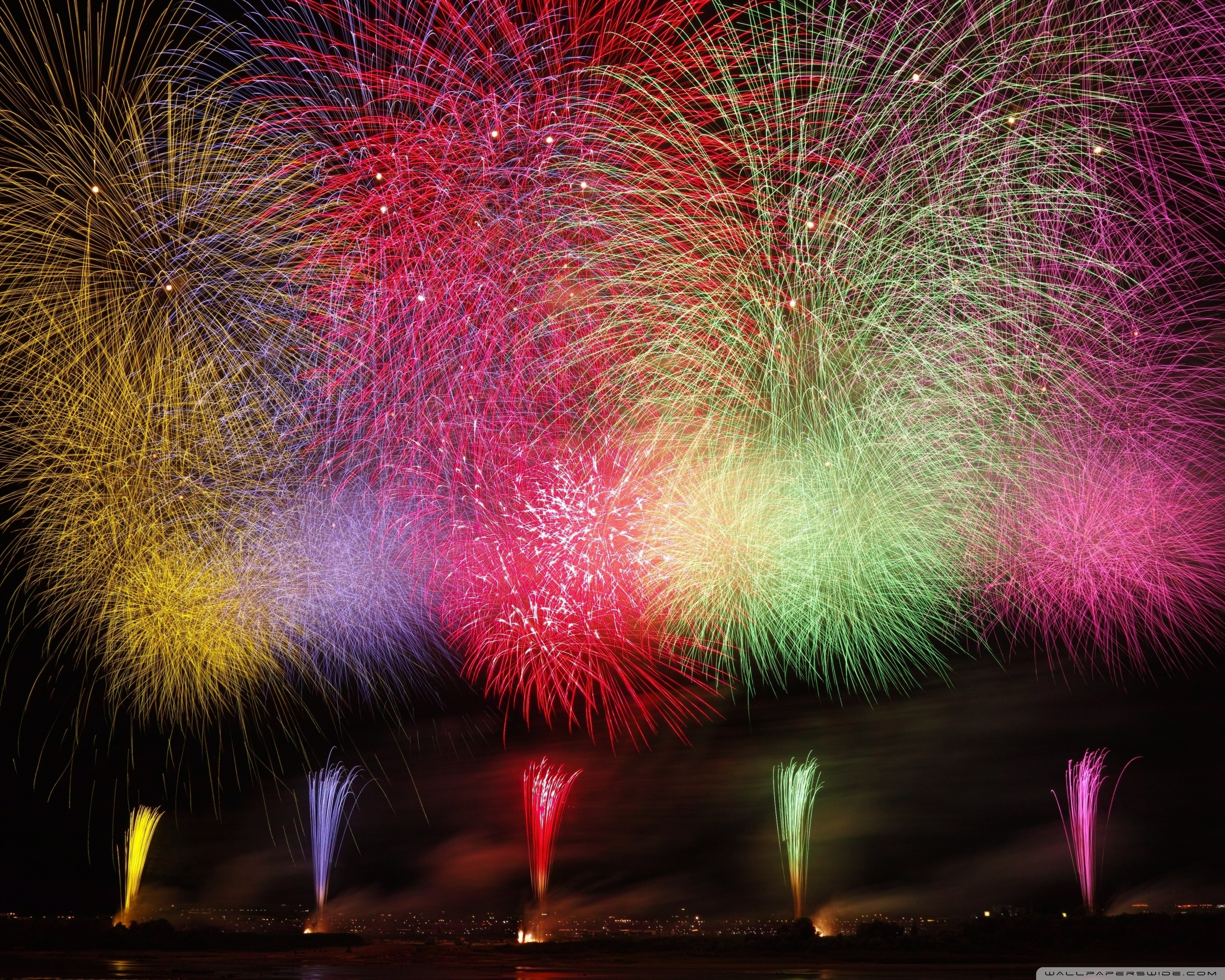 Amazing Fireworks 2020 Ultra HD Desktop Background Wallpaper for 2560x2048