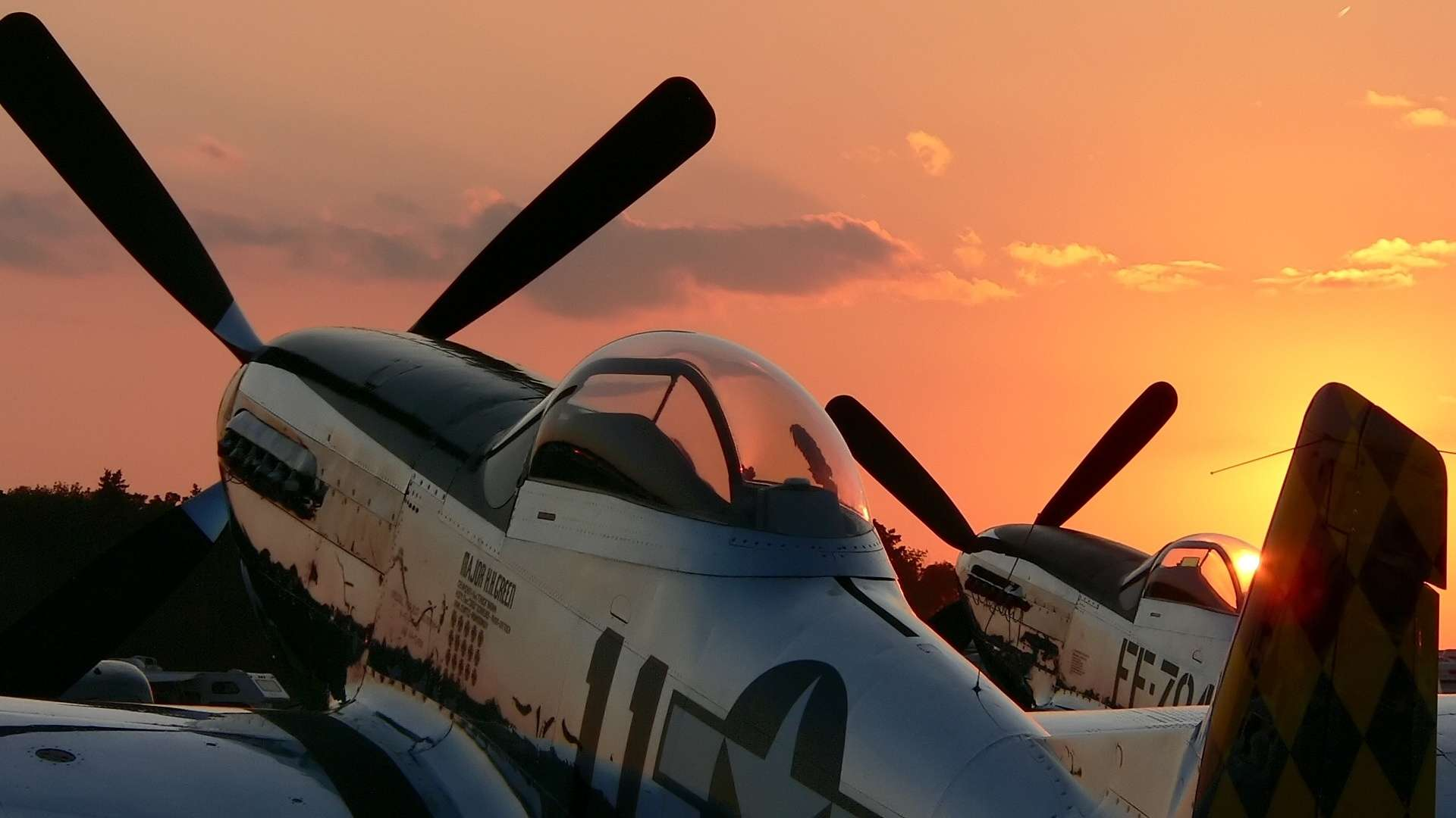 View Of P 51 Sunset Wallpaper Hd Wallpapers 1920x1080