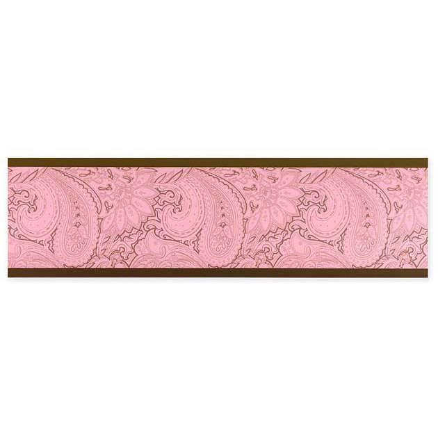 Discontinued Pink Paisley Wallpaper Border 630x630