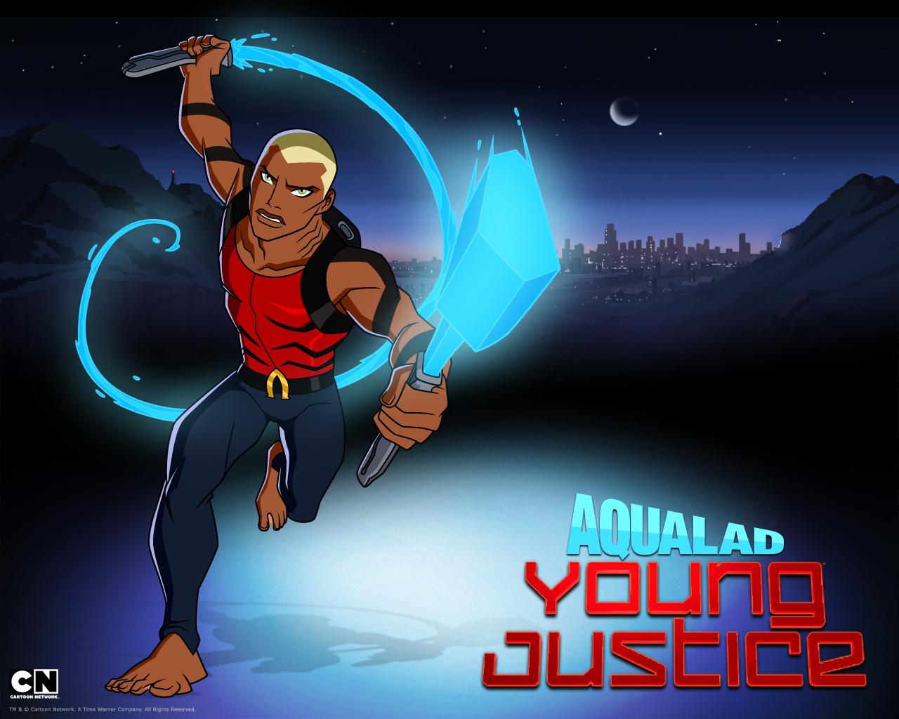 Wallpaper   Papel de Parede do desenho animado   Justia Jovem Young 1280x1024