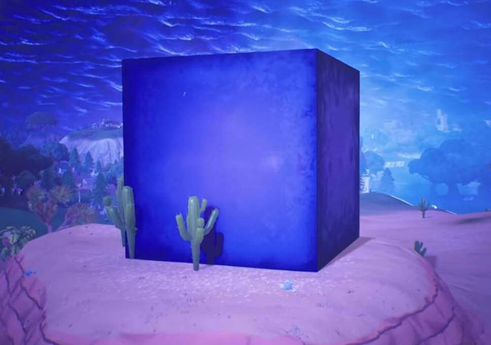 Mystery of giant purple cube in Fortnite Battle Royale solved by 968x681