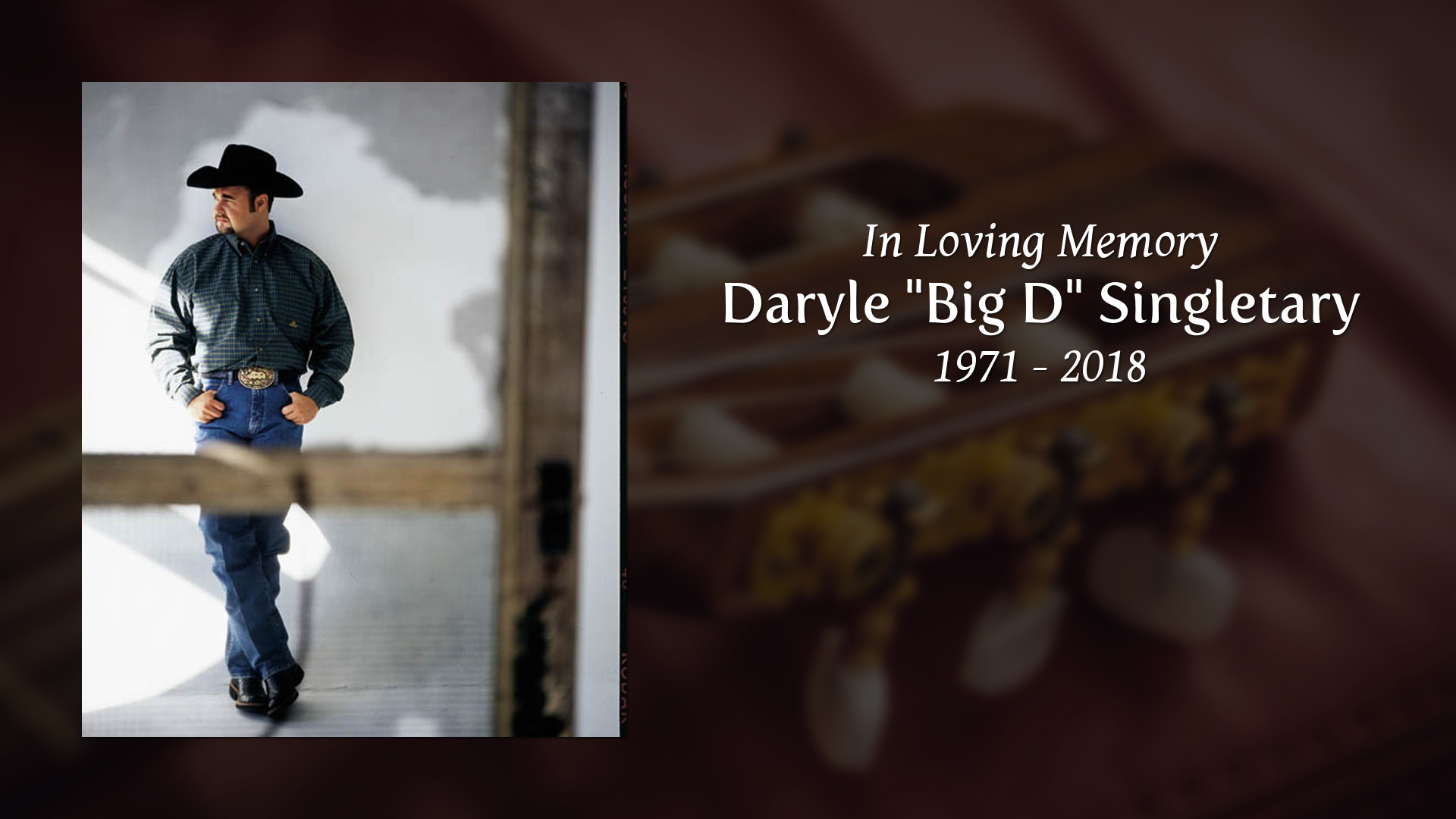 Obituary for Daryle Big D Singletary Partlow Funeral Chapel 1920x1080