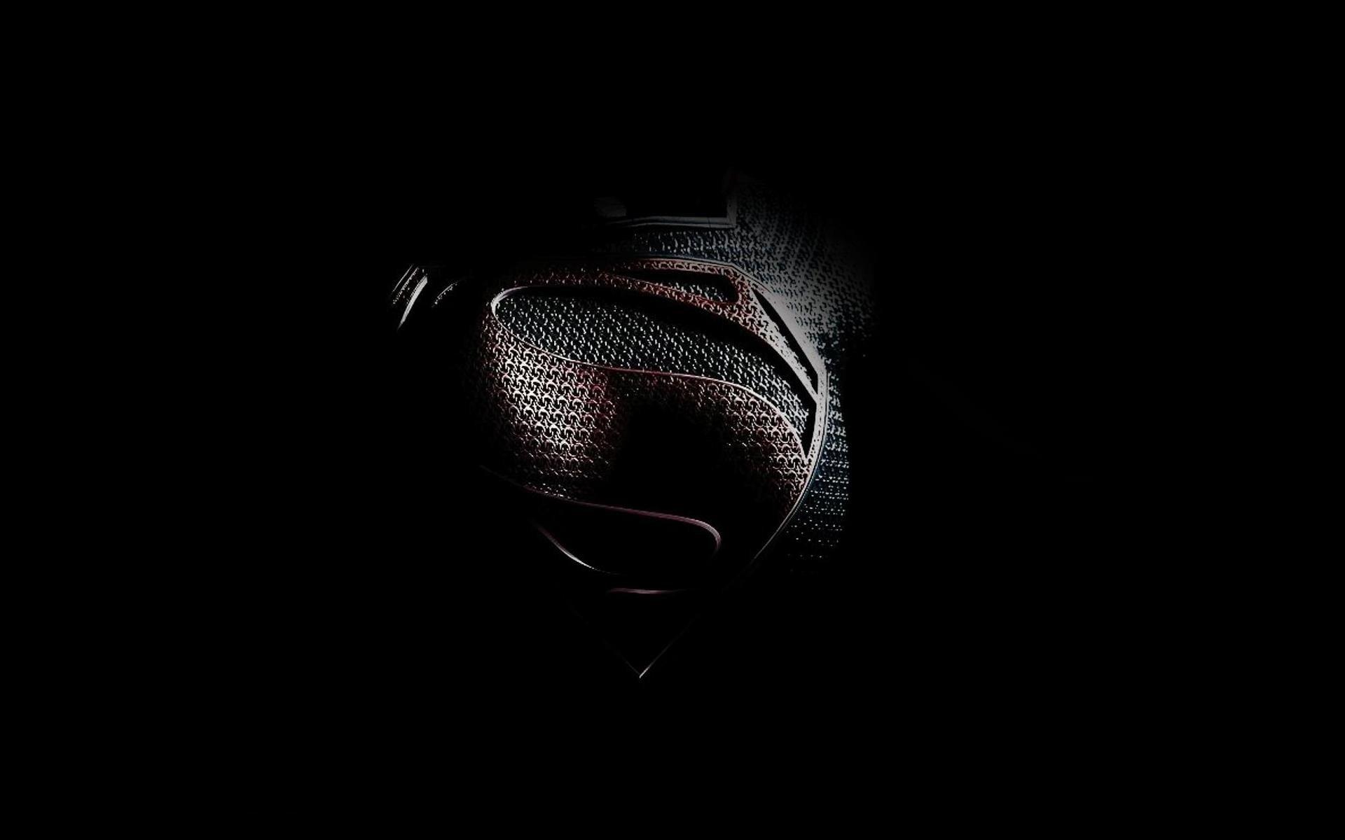 black minimalistic movies Superman Man of Steel movie wallpaper 1920x1200