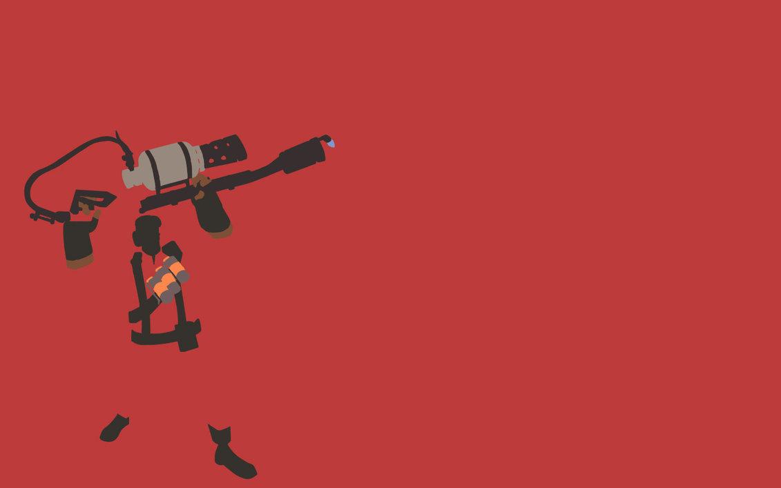 TF2 Red Pyro Minimalist Wallpaper by bohitargep 1131x707