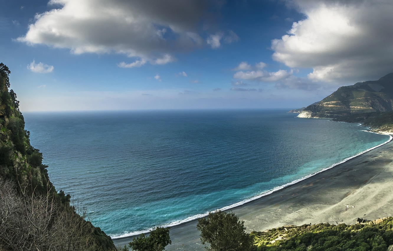 Wallpaper beach sea coast corsica images for desktop section 1332x850