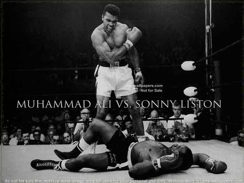 Muhammad Ali vs Sonny Liston Wallpaper Poster Art Print 800x600
