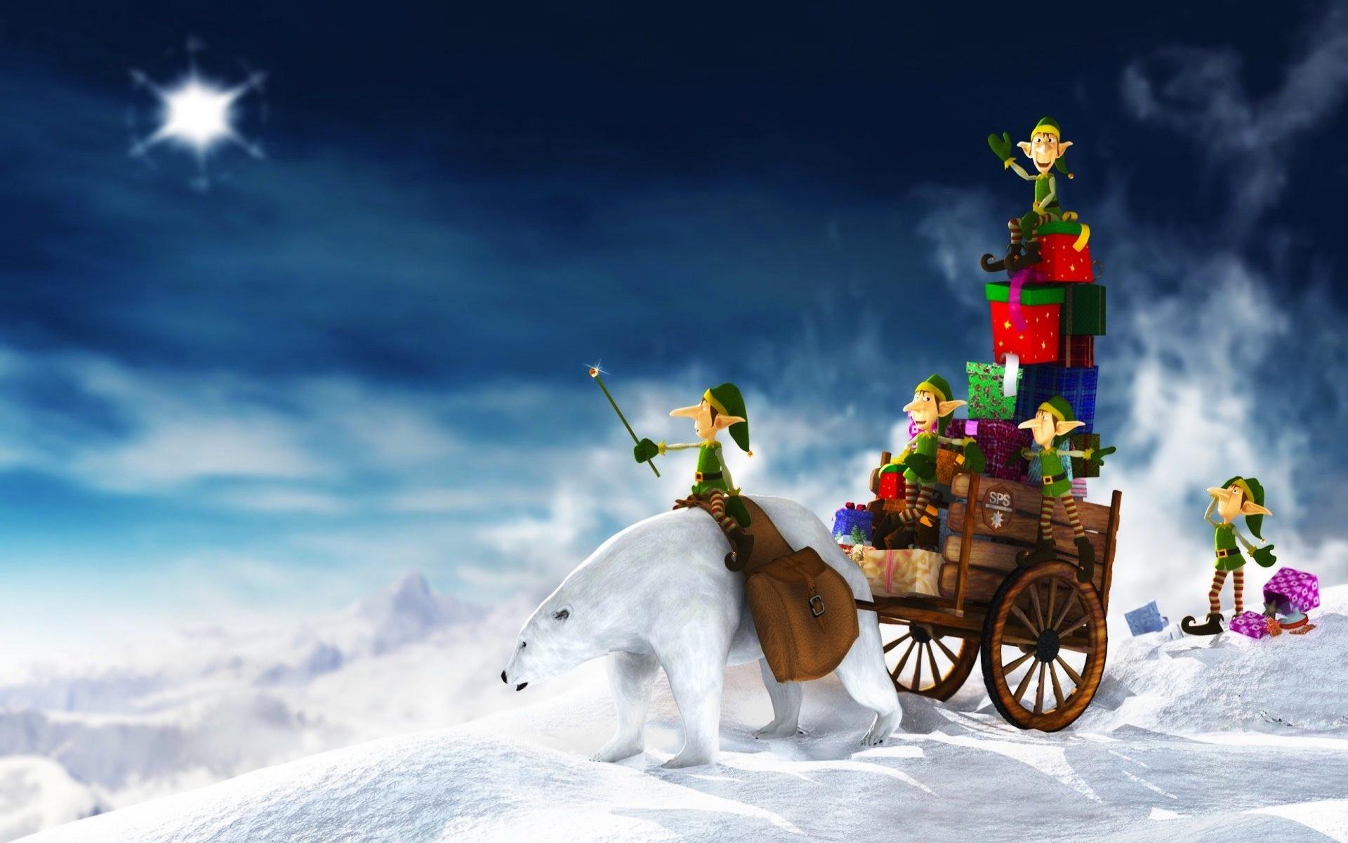 Christmas Elves Hintergrundbilder Christmas Elves frei fotos 1920x1200
