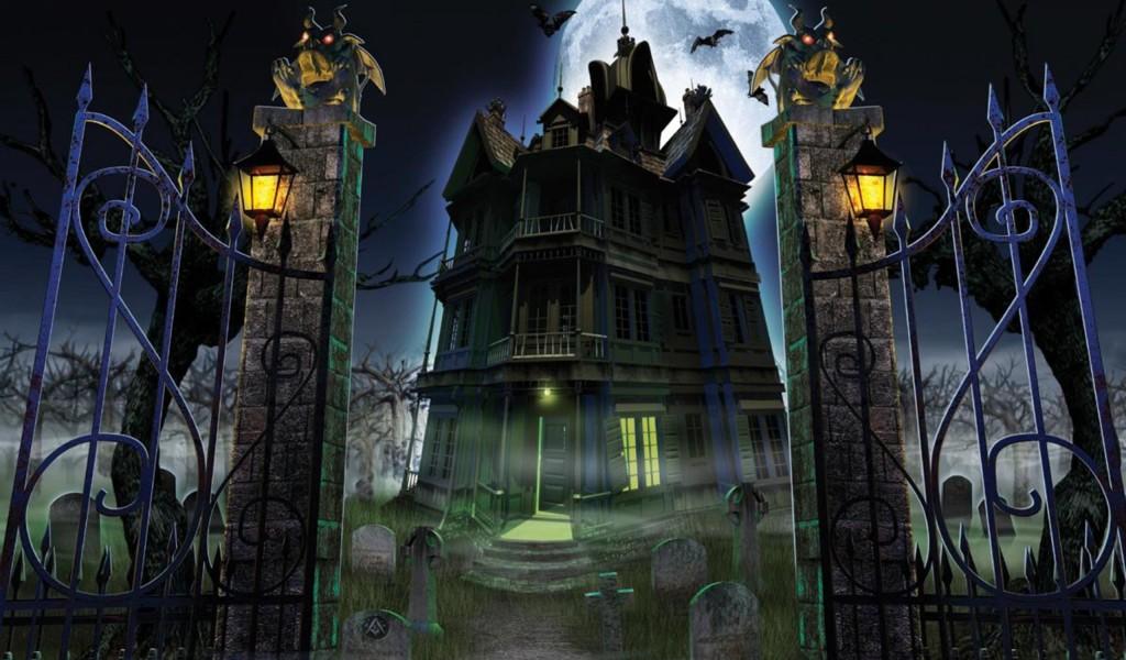 Haunted House Halloween 3   HD Wallpaper 1024x600 1024x600