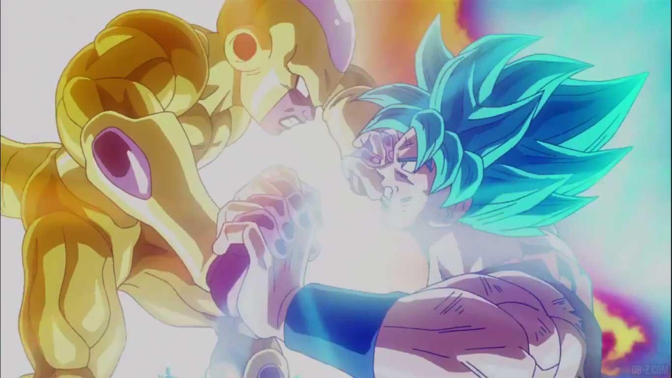 Goku SSGSS vs Golden Freezer dans un trailer explosif 1366x768