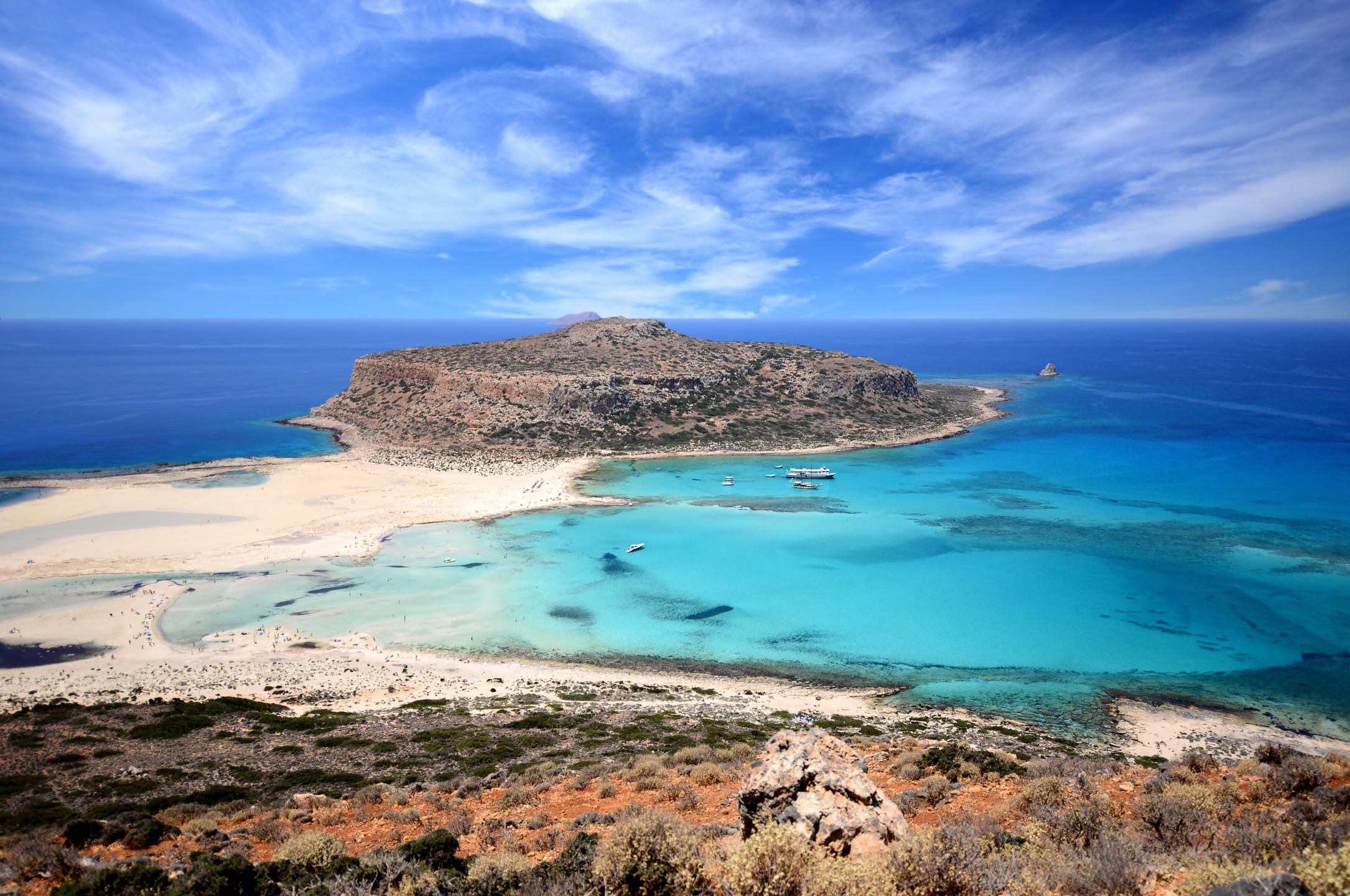 Panorama Sea of KritiCrete Island Greece Nature Crete island 2170x1440