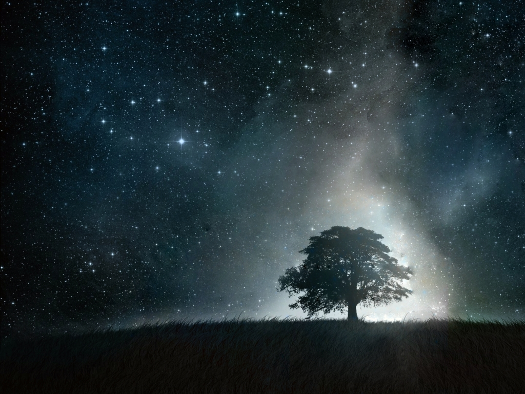 Beautiful Night Sky wallpaper 1024x768