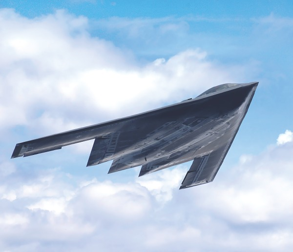 wing shaped stealth bomber nicknamed spirit is a unique aircraft 600x517