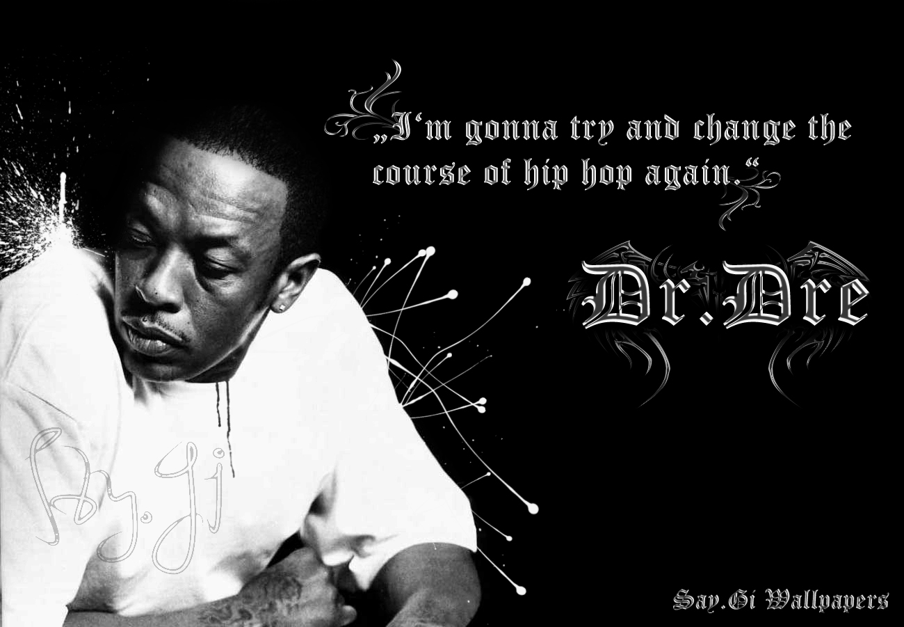 dre rappers wallpaper black and white hip hop wallpapers   urbannation 1300x901