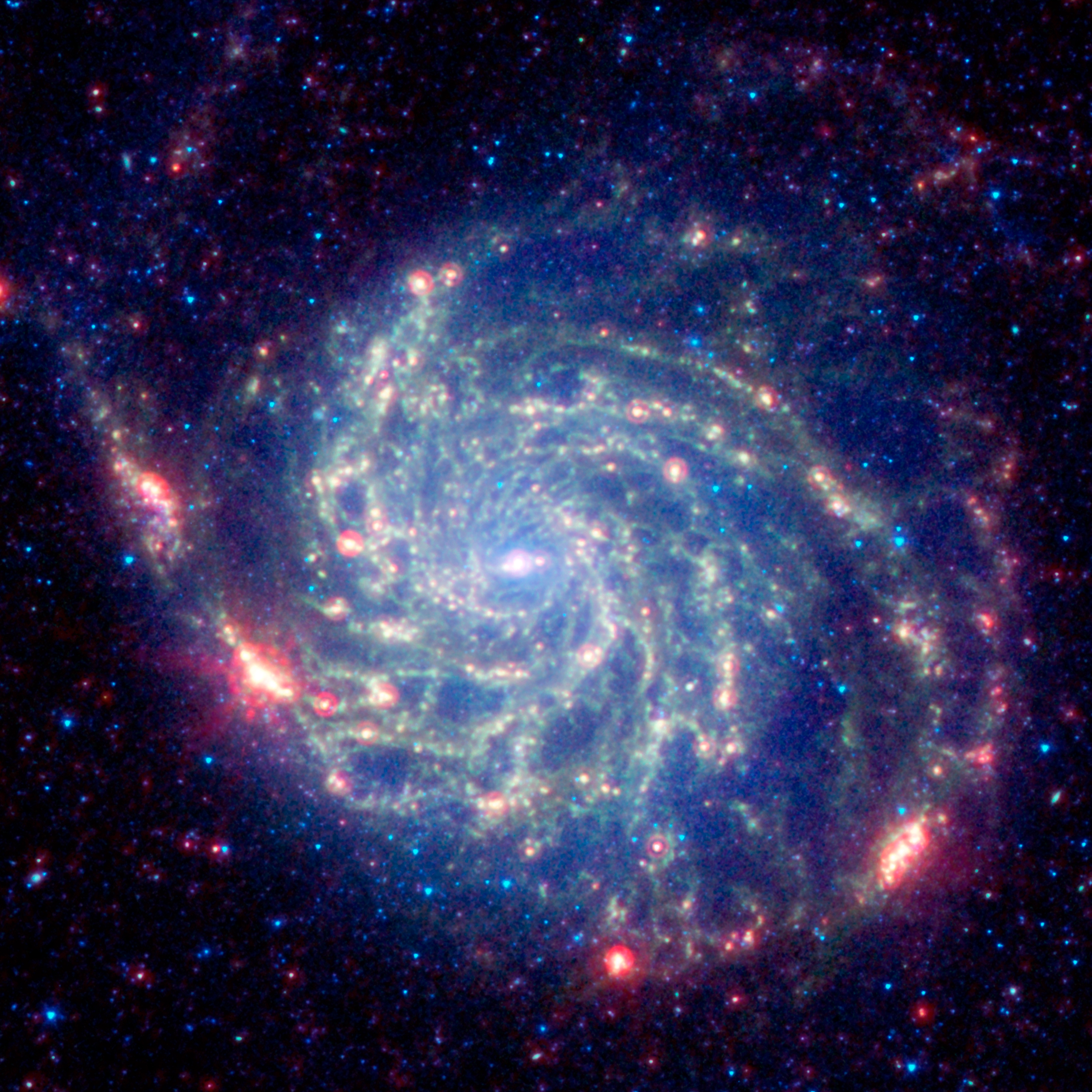 Spitzer image of M101 ESAHubble 4000x4000
