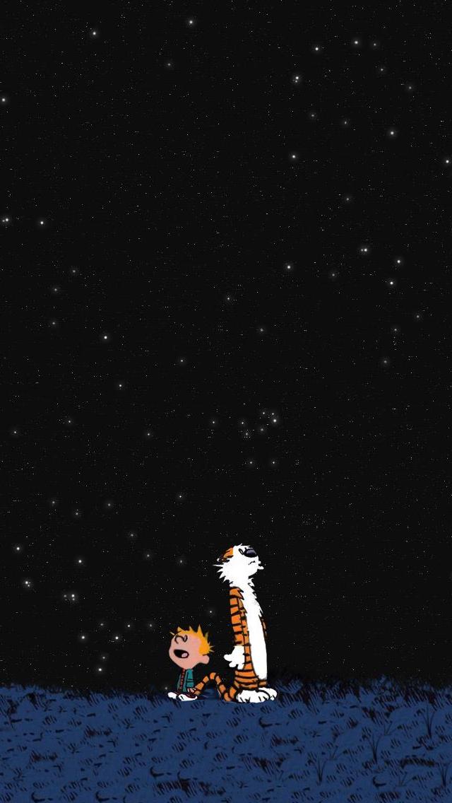 Calvin Hobbes Space iPhone 5 Wallpaper 640x1136 640x1136