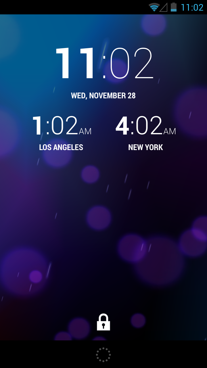 Android Jelly Bean Lock Screen Wallpaper