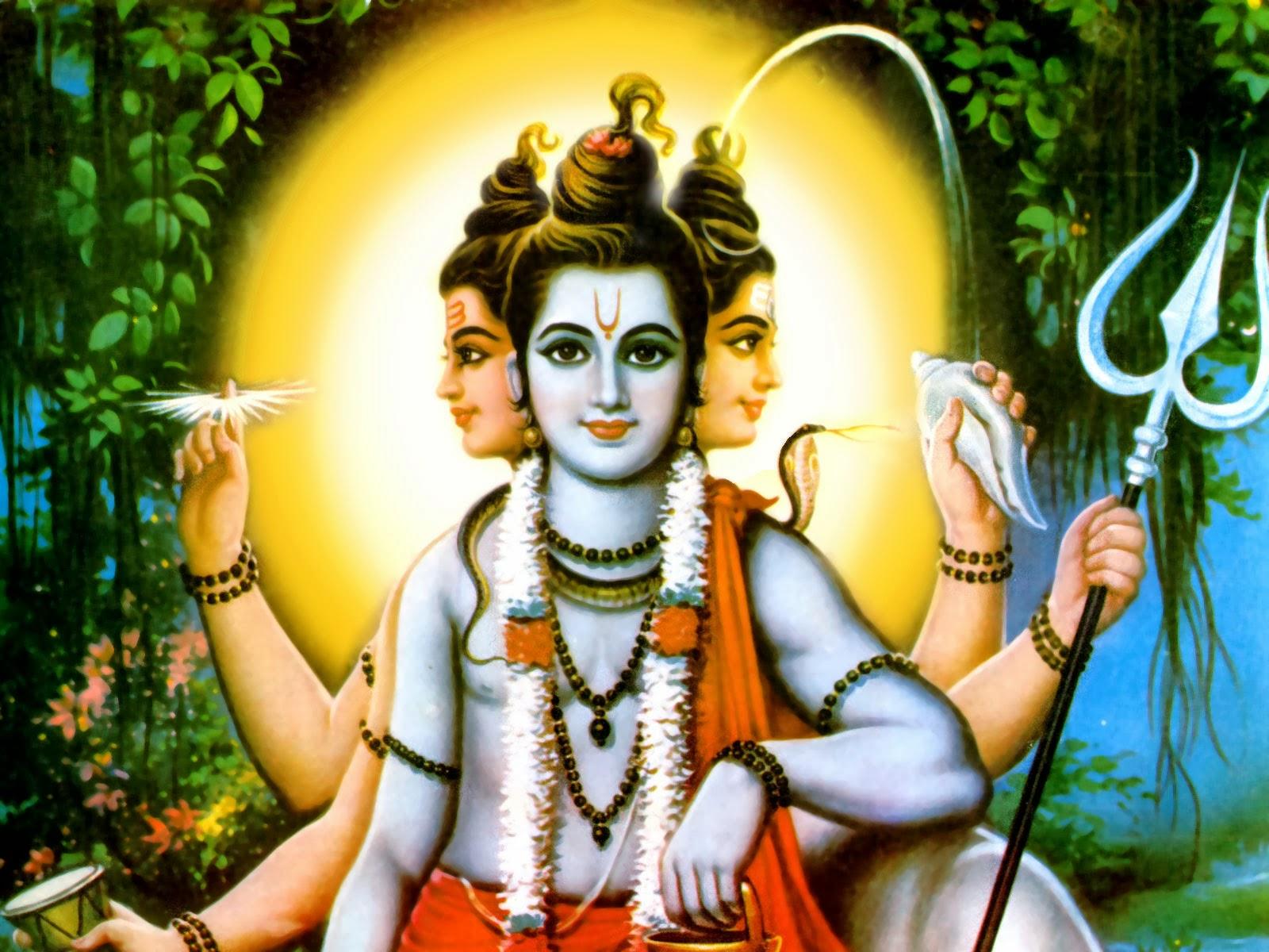 hindu god picture dattatreya hd wallpaper dattatreya wallpaper 1600x1200