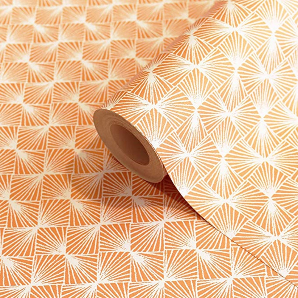 Coloroll Stockholm Geometric Wallpaper Orange   Wallpaper from I 1000x1000