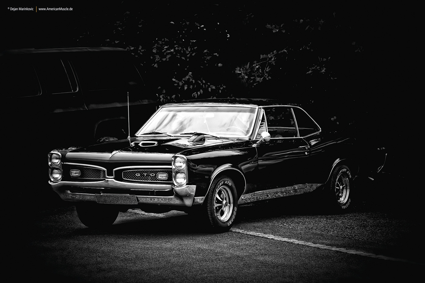 1967 Pontiac GTO BlackWhite by AmericanMuscle 1400x933