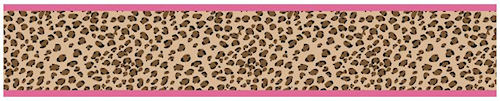 Animal Print Wallpaper Border Cheetah Pink 500x101