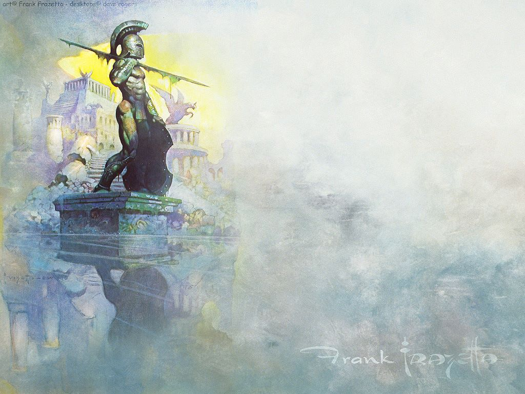 Frazetta Wallpaper Download The Prehistory By Frank 1024x768
