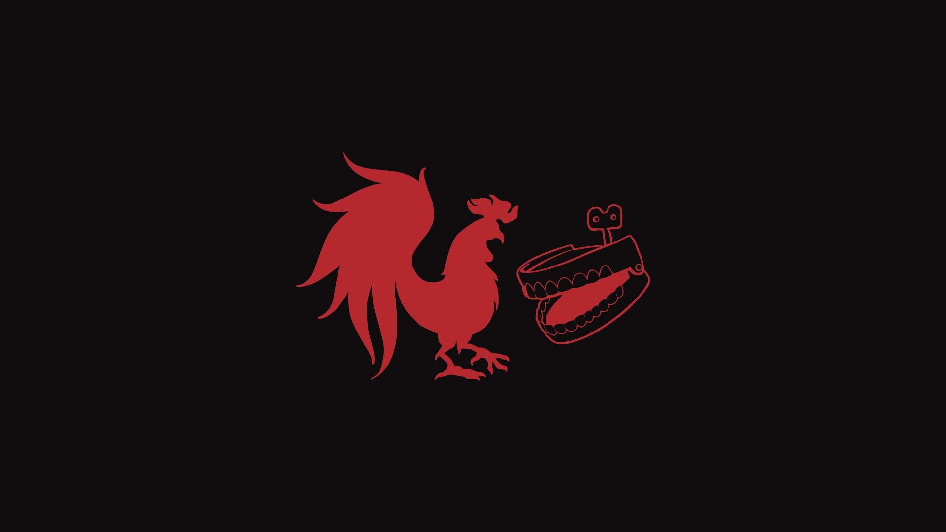 rooster teeth logo by orangeman80 customization wallpaper minimalistic 1920x1080