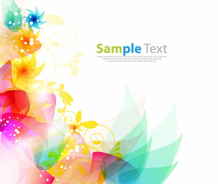 Floral Abstract Background Vector Graphics All Web 698x592