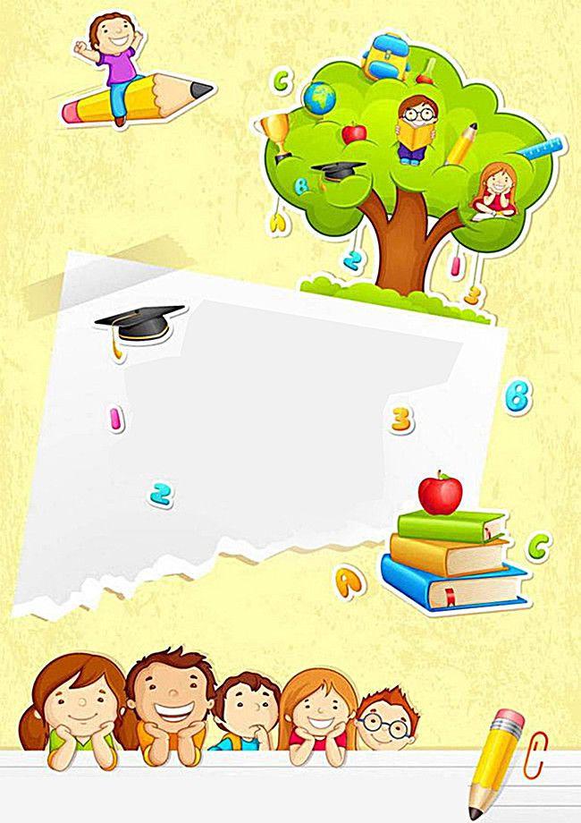 Kindergarten Learning Background Material Wallpaper backgrounds 650x920