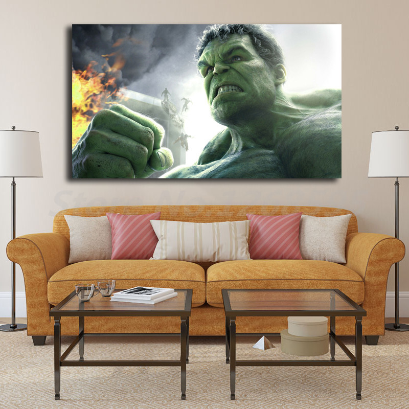Classy Hulk On Fire HD Wallpapers Wall Art Canvas Poster and Print 800x800