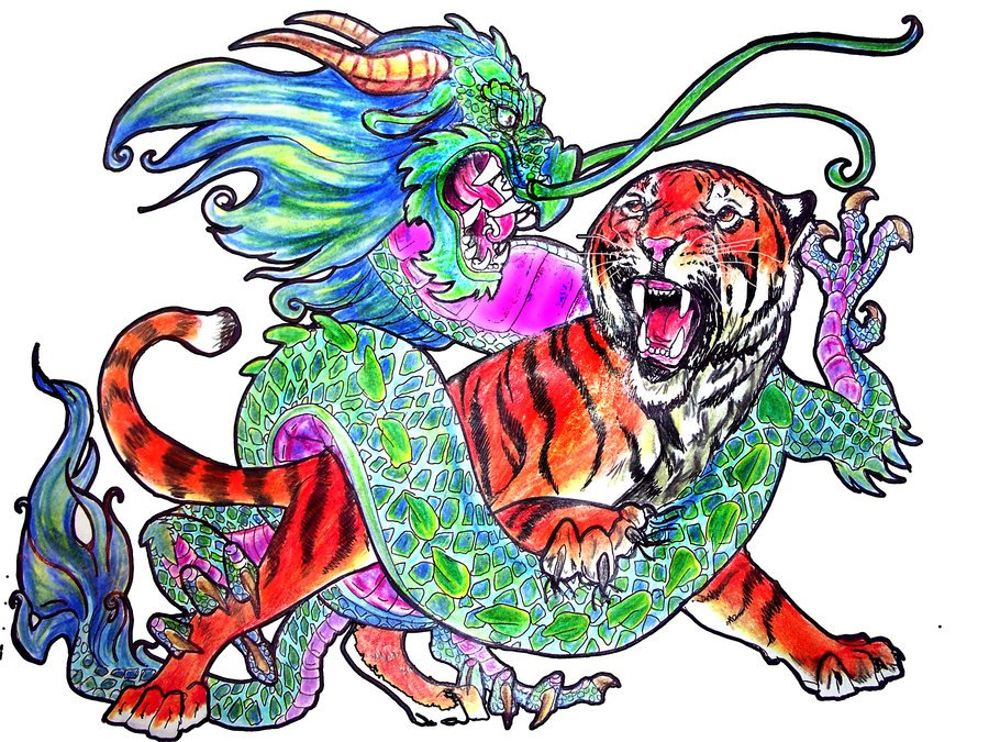 Dragon Vs Tiger Wallpaper Dragon vs tiger by 900x675