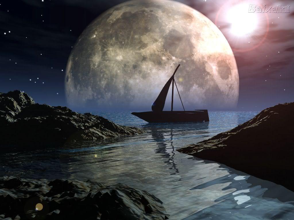 Moon River Wallpaper Moon River Background for Desktops 1024x768