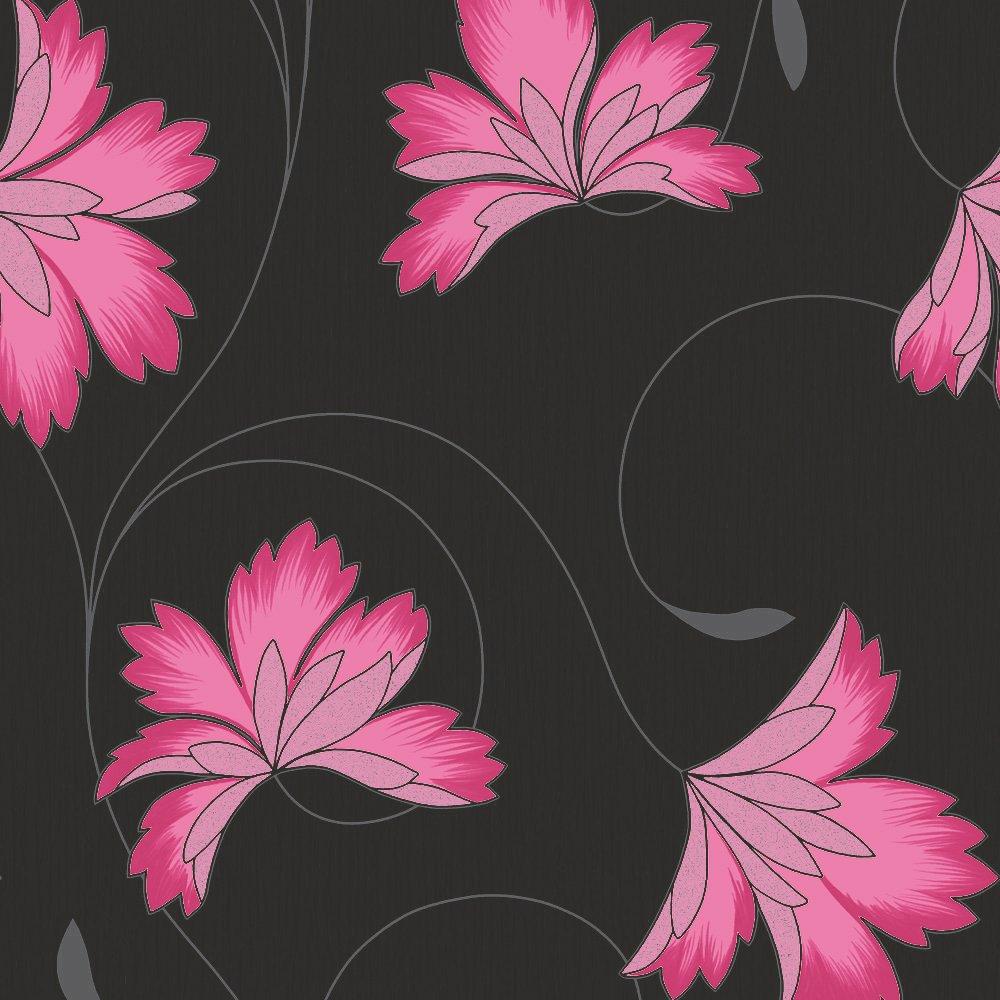 Black and pink wallpaper wallpapersafari for Black and pink wallpaper for bedroom