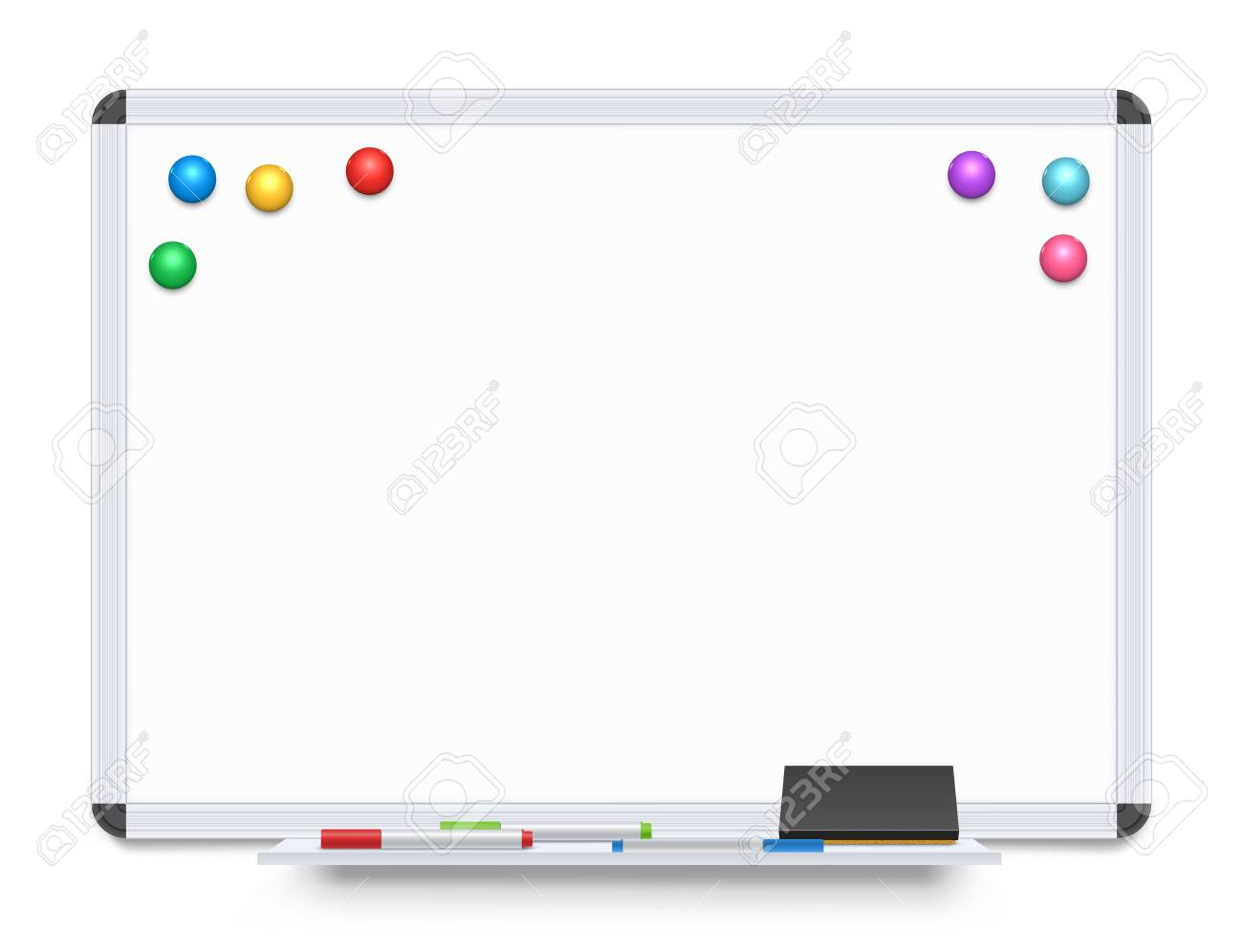 Education Or Presentation Whiteboard Isolated On White Background 1300x996