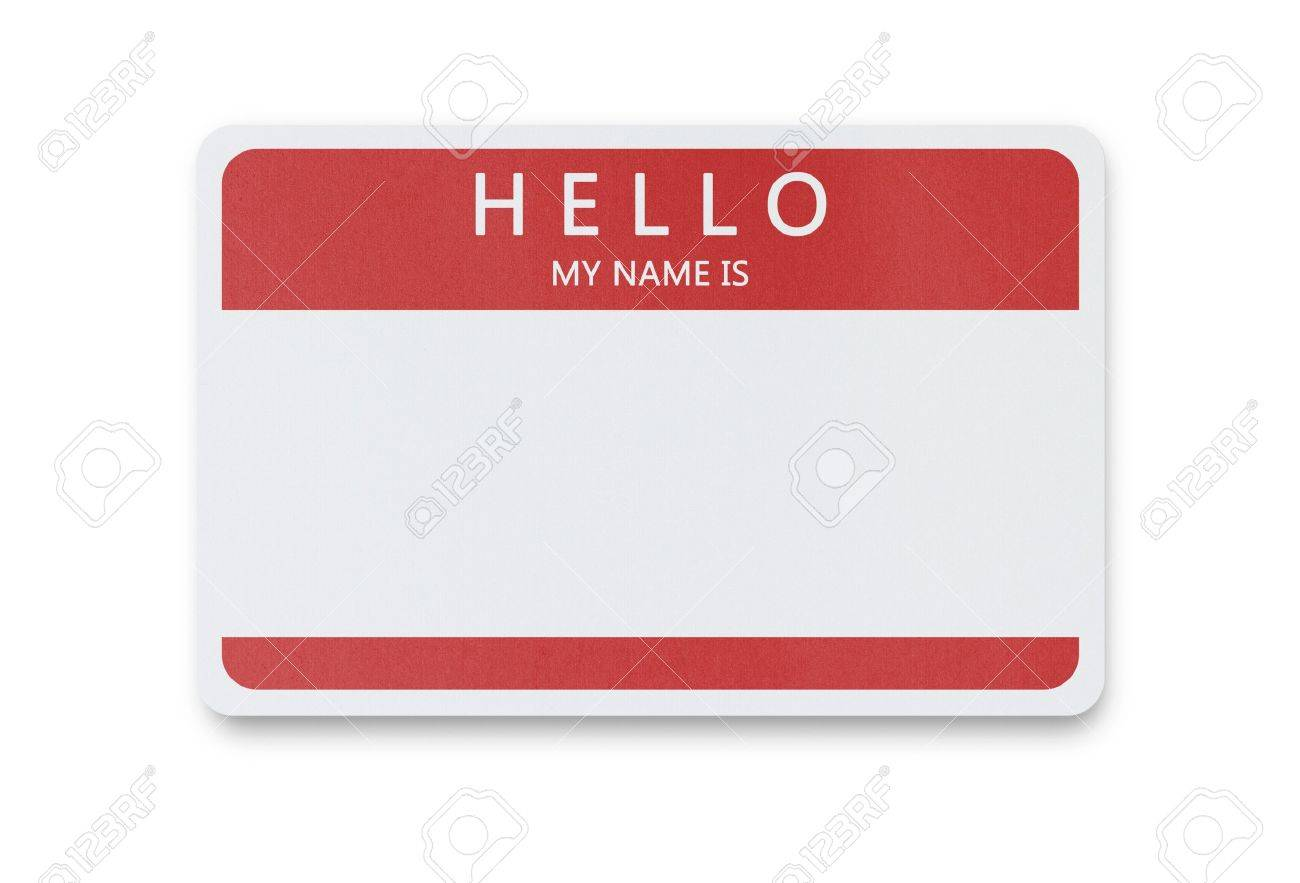 Blank Name Tag Isolated On White Background With Clipping Path 1300x883