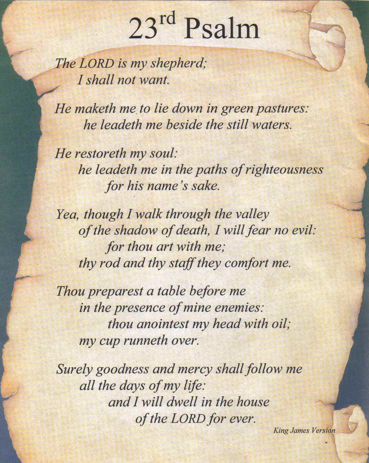 psalm 23 is a part of psalms 23 kjv pictures gallery to see this psalm 1182x1485