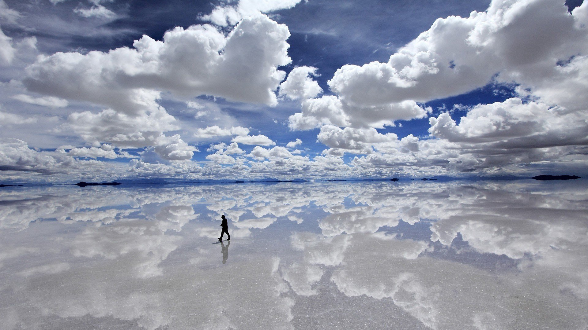 Clouds bolivia bright reflections sillhou wallpaper 1920x1080 1920x1080