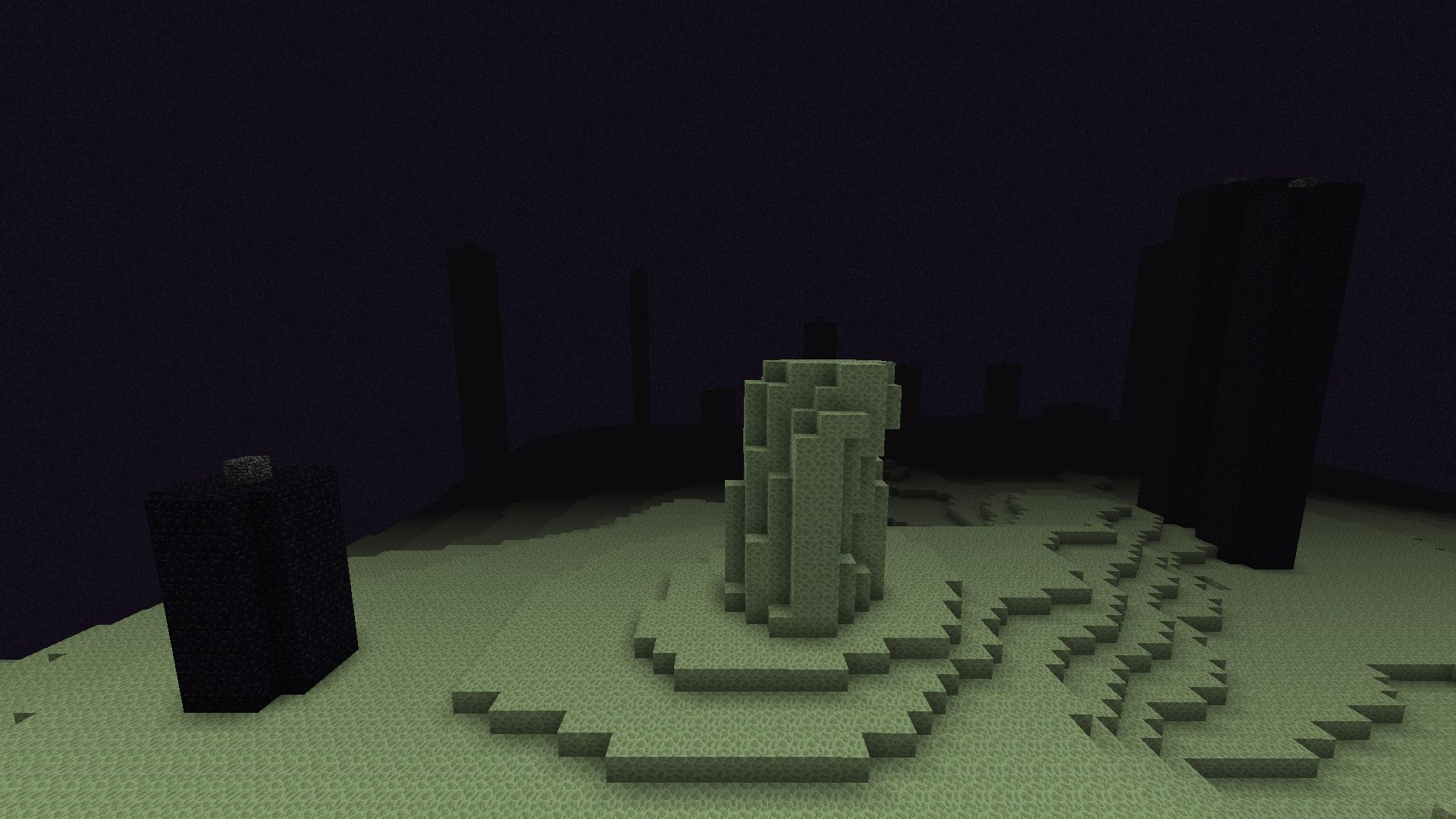 Silly end stone towers are for Obsidian   Minecraft 1920x1080
