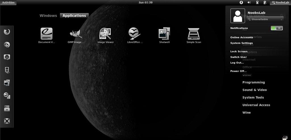 theme on UbuntuLinux Mint GTK3 Gnome Shell   NoobsLab Ubuntu 1024x493