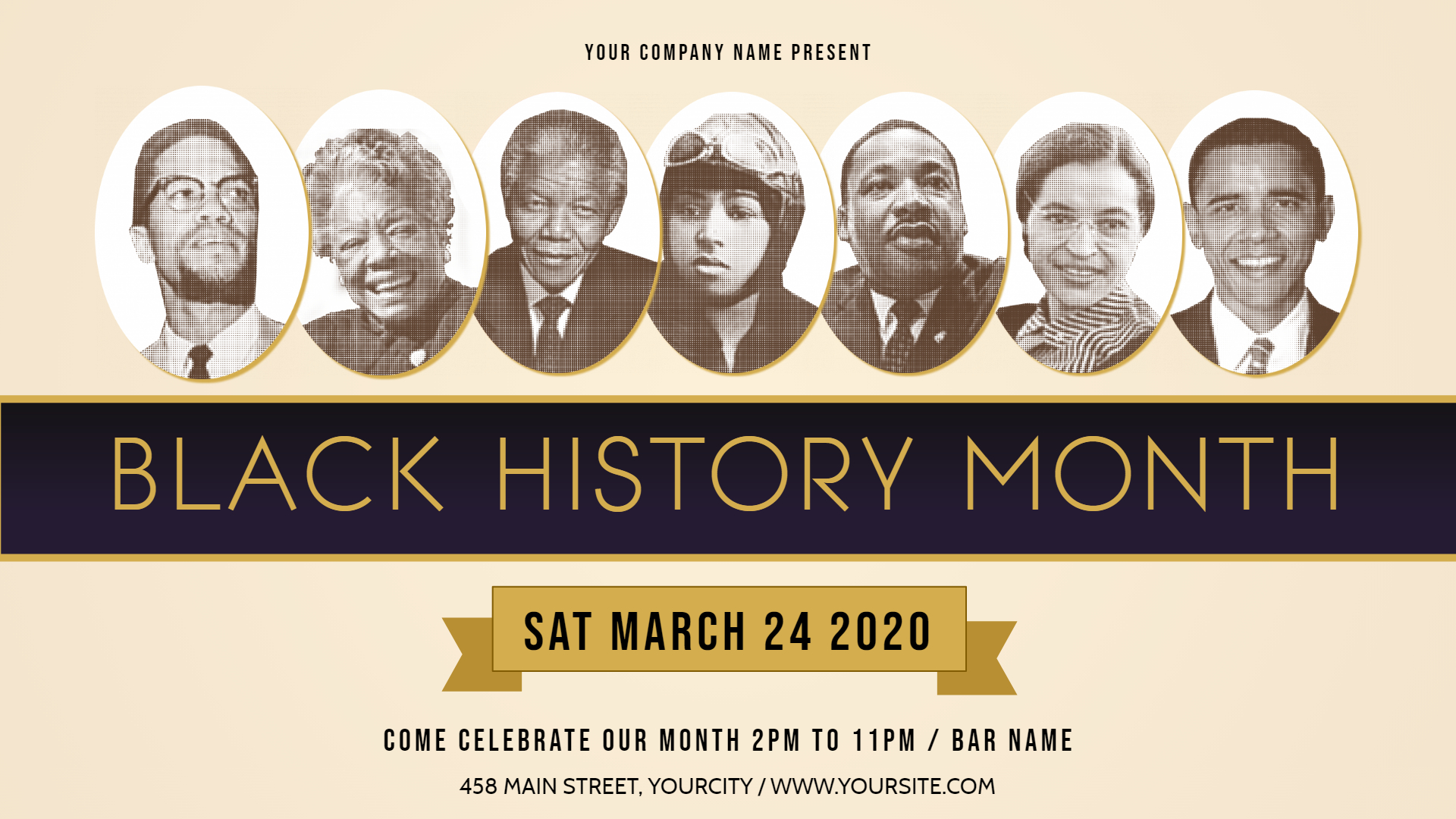 New Design Ideas for Promoting your Black History Month Event 1920x1080