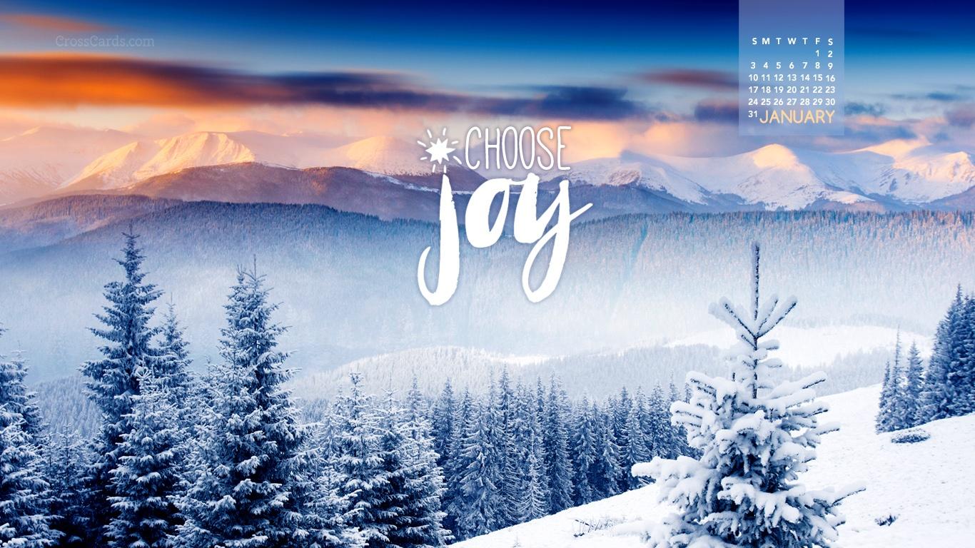 January 2016   Choose Joy Desktop Calendar  January Wallpaper 1366x768