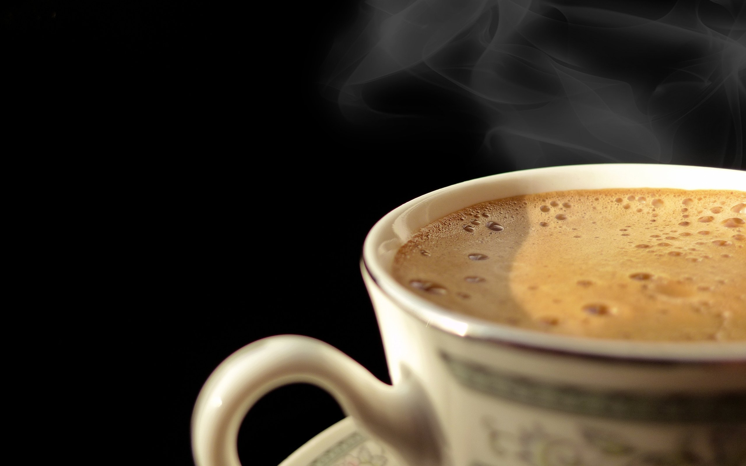 2560x1600 Cup of Hot Coffee desktop PC and Mac wallpaper 2560x1600