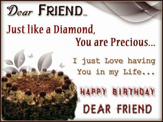 happy birthday friend wallpaper 533x400