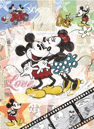 Mickey Mouse Puzzle ft Mickey and Minnie Mouse Classic Disney Retro 365x500