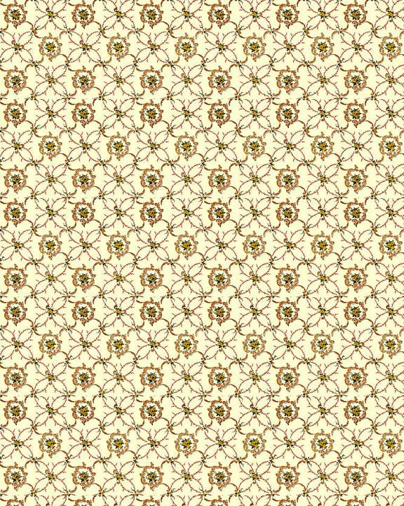 Applying Printable Doll House Wallpaper 576x720