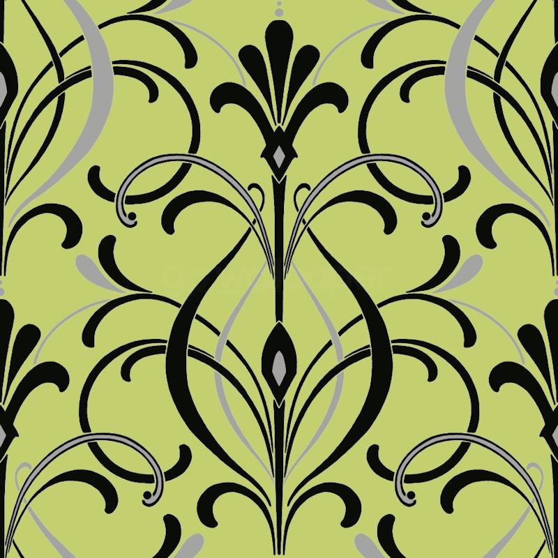 New Lime Green Black Art Deco Wallpaper GoWallpaper UK 800x800